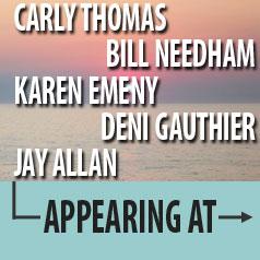 Beach Party Guests - Carly Thomas, Bill Needham, Karen Emeny, Deni Gauthier, Jay Allan
